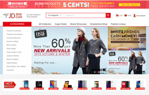 Website đặt hàng JD.