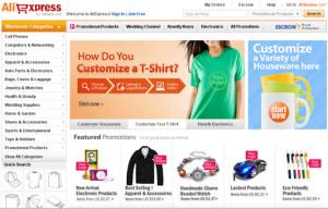 Website đặt hàng Aliexpress